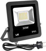 LE LED Strahler mit EU Stecker, 30W 2400 Lumen Superhell Fluter, IP65 Wasserdicht LED Scheinwerfer, 5000 Kelvin Kaltweiß Außenstrahler, geeignet für Garten, Garage, Hotel, Hof usw.