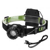 10W LED Stirnlampe, Wasserfest Kopfleuchte, 450lm Leichte LED Kopflampe, USB aufladbar, 3 Modi, Perfekt fürs Joggen Campen Laufen, Kaltweiß