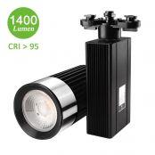 25W LED Schienensystem, 1400lm Seilsystem, Spot licht, Warmweiß