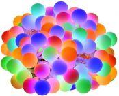 LE 100er LED Kugel Lichterkette Bunt 13M, Partybeleuchtung Außen mit Stecker, 8 Modi und Merk Funktion, ideale Partylichterkette für Innen, Hochzeit, Party Deko usw. Mehrfarbig