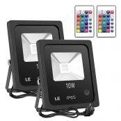 10W LED Außenstrahler RGB, fernbedient Flutlicht, 16 Farben & 4 Modi