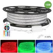 15M RGB 220V-240V LED-Streifenlichter