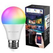 Lampux Smart WiFi Lampen 9W E27 LED Smart Wlan Glühbirnen RGB Farben mit einstellbarer Helligkeit, kompatibel mit Alexa, Google Home, Kein Hub erforderlich