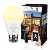 Lampux Smart WiFi Lampen E27 9W LED Smart Wlan Glühbirnen, kompatibel mit Alexa, Echo, Google Home, 2.4 GHz, Fernbedienung, kein Hub erforderlich