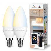 LE 4.5W Smart E14 LED Lampen Warmwei§ und Kaltwei§, Dimmbar LED Leuchtmittel