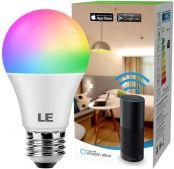 Smart Glühbirne E27, Kompatibel mit Alexa, Google Home und IFTTT für Sprachsteuerung, Farbwechsel, Dimmbar, Timing, 9W LED Wlan Lampe, Fernbedienung über App, Kein Gateway erforderlich