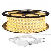 25M LED Lichterkette, 5050 SMD LEDs, 220V-240V LED Streifen, Superhelle warmweiß