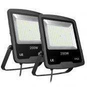 2er 200W Fluter, superhelle LED Flutlicht, ersetzt 600W Hochdrucknatriumlampe, wasserdicht Außenleuchten, LED Strahler für Sportplatz Fußballplatz Firmenschild usw.