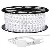 25M LED Lichterkette, 3528 SMD LEDs, 220V-240V LED Streifen, Superhelle kaltweiß