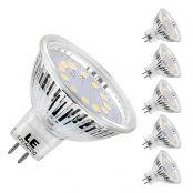 3,5W MR16 GU5.3 LED Lampen, 12V 280lm Birnen, ersetzt 35W Halogenlampen, 120 ° Abstrahlwinkel, Kaltweiß, 5er Pack