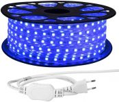 LE 25M LED Streifen 230V, 5050 SMD LEDs, 220V-240V LED Stripes, Superhelle Blau, IP65 wasserdichte außere dekorative Lichterketten
