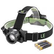 3W LED Stirnlampe, Wasserdicht, 280lm LED Kopflampe, 160m Reichweite, handfreie Scheinwerfer, Ideal für Camping, Joggen, Jagd und Lesen