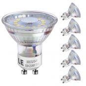 4W GU10 MR16 Lampe, 350lm LED Strahler, Ersatz für 50W Halogenlampe, nicht wasserfest Kaltweiß, 5er Set
