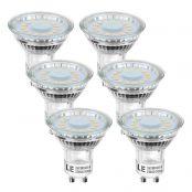 LED Leuchtmittel GU10, MR16 Lampen, 350lm, Ersatz für 50W Halogen, Warmweiß, 6er Pack