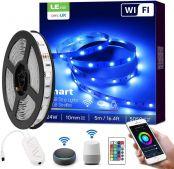 LE LED Strip Alexa, 5M LED Streifen, IP20 Smart LED Leiste inkl. Fernbedienung, WiFi 5050 LED Band Lichterkette für Haus,Küche,Party,TV, Lichtband Kompatibel mit Alexa, Google Home [nur 2.4GHz]