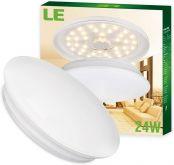 LE 24W Deckenleuchte Ø41cm ersetzt 180W Glühbirne (50W Leuchtstoffröhre) warmweiße LED Innenleuchte 2000lm 3000K 120° Abstrahlwinkel ideal als Deckenlampe im Wohnzimmer, Schlafzimmer, Esszimmer
