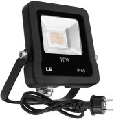 LE LED Strahler mit EU Stecker, 10W 4000 Lumen Superhell Scheinwerfer, IP65 wasserdicht LED Fluter, 5000 Kelvin Kaltweiß Außenstrahler, geeignet für Garten, Garage, Hotel, Hof usw.