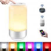 LE Alexa Nachttischlampe Touch Dimmbar, LED Smart WiFi Tischlampe mit Timing Funktion, Nachtlicht 2000K-6000K Warmweiß RGB, bis zu 16 Millionen Farben, Kompatibel mit Alexa Google Home
