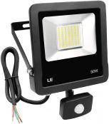 LE LED Strahler mit Bewegungsmelder, 50W 4000 Lumen Superhell LED Fluter Kaltweiß, IP65 Wasserdicht Scheinwerfer, Ideale Wandleuchte für Garten, Garage, Sportplatz, Hotel usw