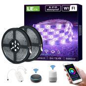 10M (2x5M) Smart LED Strip , IP65 Wasserdicht , Alexa RGB LED Streifen, [nur 2.4GHz] WiFi LED Band Lichterkette