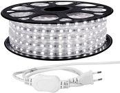 LE 20M LED Stripes, 5050 SMD LEDs, 220V-240V LED Streifen, Superhelle kaltweiß, IP65 wasserdichte außere dekorative Lichterketten
