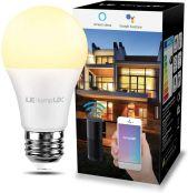 LE Smart LED Lampe Wifi E27 Glühbirne 9 W entspricht 60W dimmbares Warmes Licht 2700K 806 LM, kompatibel mit Alexa, Echo und Google Home, WLAN, 2,4 GHz, Fernbedienung, kein Hub erforderlich
