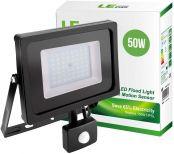 LE LED Strahler mit Bewegungsmelder 50W 4000lm Super Hell Fluter IP65 Wasserdicht LED Fluter 5000K Kaltweiß Geeignet für Garten, Garage, Hotel, Hof, etc.