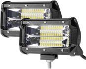 LE 2er LED 72W Zusatzscheinwerfer 5200 lm, Arbeitsscheinwerfer IP67 Wasserdicht, LED Scheinwerfer mit 24 LEDs