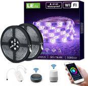 LE LED Strip 10M (2x5M), Alexa RGB LED Streifen, IP65 Wasserdicht Smart LED Leiste, [nur 2.4GHz] WiFi LED Band Lichterkette für Haus, Küche, Party, TV, Lichtband Kompatibel mit Alexa, Google Home