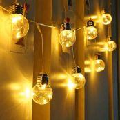 LE Lichterkette Glühbirnen Außen, 7.8M 25LEDs G45 Lichterkette Aussen mit Stecker, 4.5W Warmweiß Lichterketten für Garten, Party, Hochzeit, Balkon, Haus Deko, IP44 Wasserdichte