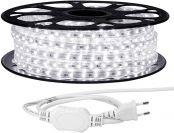 LE 15M LED Stripes, 3528 SMD LEDs, 220V-240V LED Streifen, Superhelle kaltweiß, IP65 wasserdichte außere dekorative Lichterketten