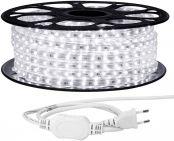 LE 230V LED Streifen 20M, 3528 SMD LEDs, 220V-240V LED Stripes, Superhelle kaltweiß, IP65 wasserdichte außere dekorative Lichterketten