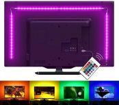 Lepro LED TV Hintergrundbeleuchtung, LED Strip 2M, RGB LED Fernseher Beleuchtung für 35~65 Zoll HDTV PC Monitor, Upgrade RF Fernbedienung, einstellbare Farben, Modi&Helligkeit, 4x50cm LED Streifen USB