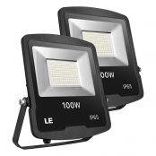 100W LED Fluter 8000lm, ersetzt 250W Hochdrucknatriumlampe, Kaltweiß Flutlichtstrahler, IP65 Wasserdicht LED Außenleuchten, Scheinwerfer