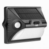 LED Solarleuchte, 400lm LED Solarlampe, Sicherheits mit Bewegungsmelder, Außenwandleuchten solarlicht für Garten