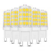 LE 5W G9 LED Lampe 340 Lumen, Kein Flackern und 3000k warmweiß G9 LED Leuchtmittel Ersatz 33W G9 Halogenlampe, 360° Abstrahlwinkel, nicht dimmbar 5er Pack