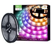 Lepro LED Strip 5M, Alexa RGB LED Streifen, IP65 Wasserdicht Smart LED Leiste, [nur 2.4GHz] WiFi Hell 5050 LED Band Lichterkette für Haus, Küche, Party, TV, Lichtband Kompatibel mit Alexa, Google Home