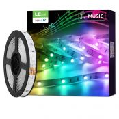 Lepro Alexa 5M LED Strip Lichtband mit Musik, Smart RGB LED Streifen [nur 2.4GHz] WiFi LED Leiste Lichterkette für Haus, Küche, Party, TV, LED Band Kompatibel mit Alexa, Google Home