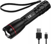 LE LED Taschenlampe, Wasserdicht Taschenlampen für Outdoor Sports, Tragbarer Zoombar Superhelle LED Taschenlampe, Extrem Hell Camping Taschenlampe für Männer, Frauen, Kinder