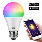 E27 9W RGBW Smart LED Birne kompatibel mit Alexa und Google Fernbedienung