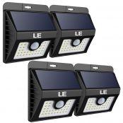 4er Solarleuchten, 400lm Solarlampen, IP64 wasserfest, 3 Modi Solarleuchte mit Bewegungsmelder