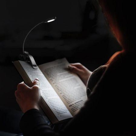 Stricken LEDGLE LED Hals Leselampe 1600K,3500K Campen Reparieren Halslampe Langlebig Schwarz 6000K,Buchlampe Perfekt zum Lesen Buch licht zum Lesen im Bett,Wiederaufladbar