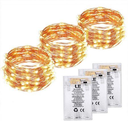 6x Batteriekupferdraht LED Lichter Lichterketten Warmweiße LED Lichter Hochzeit