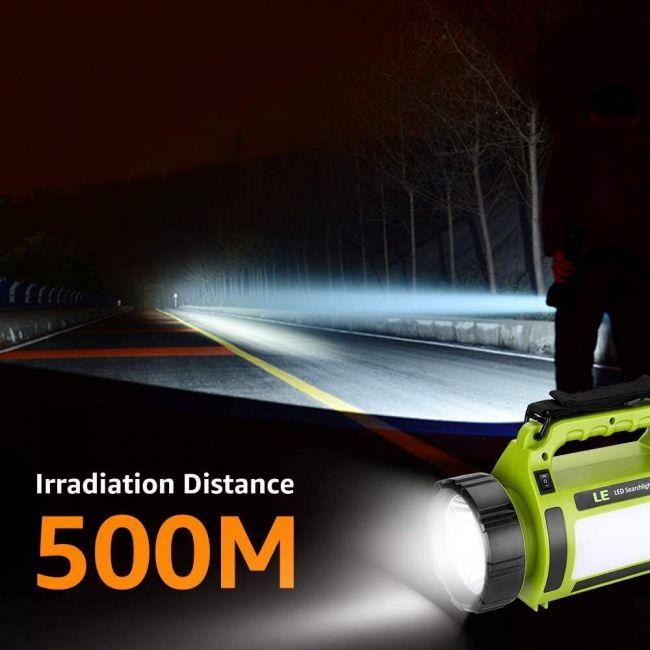 LED Handscheinwerfer 1000 Lumen Wiederaufladbare CREE Akku Handlampe mit USB