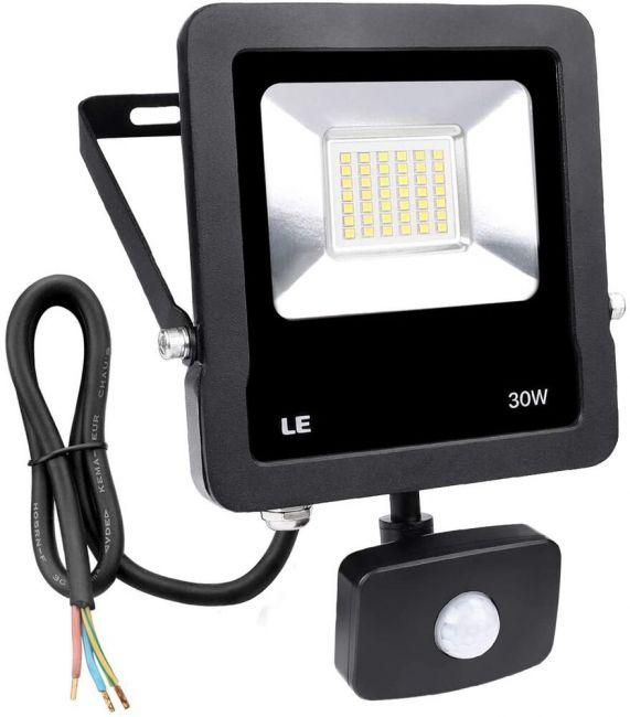 30W LED Flutlicht Fluter Strahler Mit Bewegungsmelder Außen Scheinwerfer 220V