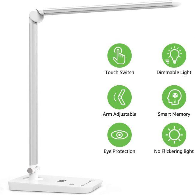 LED Schreibtischlampe Tischleuchte Dimmbar Kinder Leselampe Touch Faltbare DHL