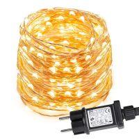 10M LED Kupferdraht lichterkette, 100 LEDs, Wasserdicht, Warmweiß