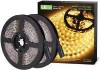LE LED Streifen 12V 5m Selbstklebend, Leiste mit 300 Stück 2835 LEDs, 3000 Kelvin 1200 Lumen Warmweiß DIY Flexibel LED Band für Innen Heim Küche Feiertag, 2er Pack