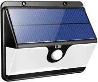 LE LED Solarlampe für Außen mit Bewegungsmelder, Superhell Solarleuchte Garten, 30 LEDs Sicherheitswandleuchte mit 2 Modi 2200mAh Akku für Garten, Garage, Auffahrt, Pfad, Hof & Balkon