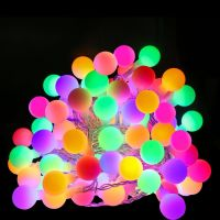 100er LED Kugel Lichterkette, 10M Mehrfarbig, 8 Modi mit Memory-Funktion, Innen/ Außen Party Weihnachten Dekolampe